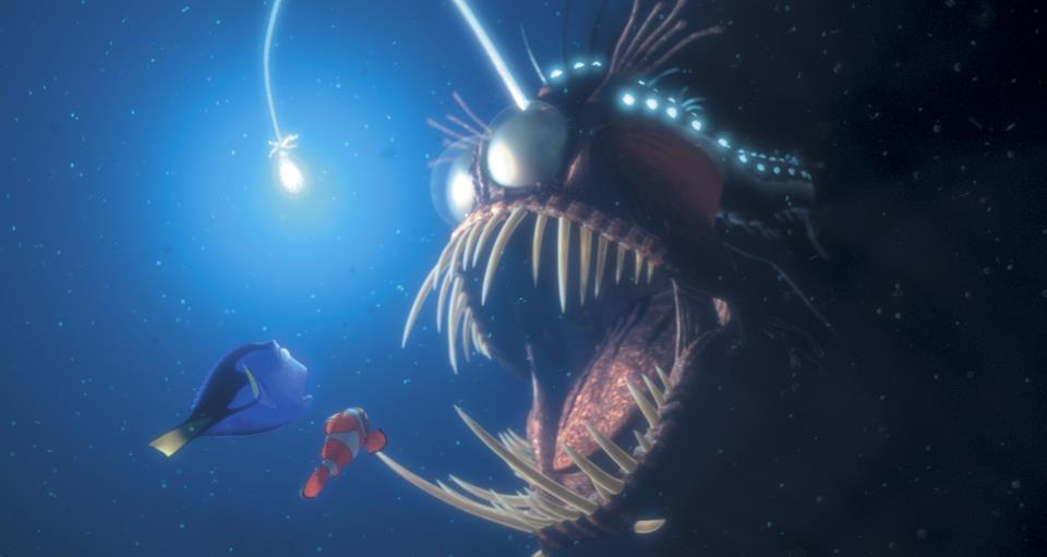 Anglerfish pixar wiki fandom powered by wikia for Where do angler fish live