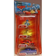 Disney Pixar Cars Toys - Disney Pixar CARS Movie Exclusive 155 Die Cast 4Pack Guido - Luigi - Lightning McQueen Doc Hudson