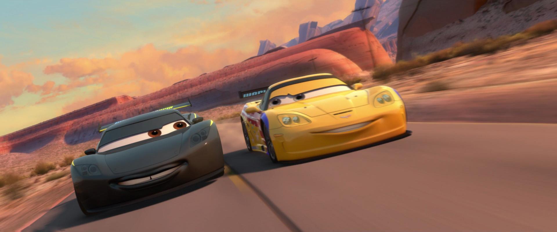 MOVIE: Cars 2 - meet Jeff Gorvette and Darrel Cartrip