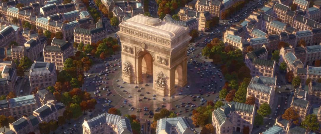 Image cars 2 arc de triomphe pixar wiki for Salon pixar paris