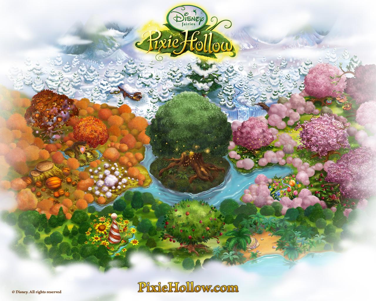 Pixie Hollow map | Pixie Hollow Wiki | FANDOM powered by Wikia