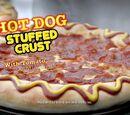 Hot Dog Stuffed Crust Pizza