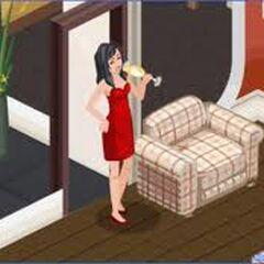Bella z The Sims Social często popija drinki