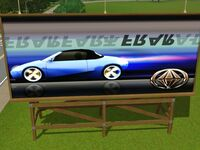 Billboard przedstawiający niebieskiego Bwana