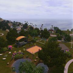 Główny park, widok w stronę oceanu