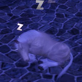 Śpiące źrebię jednorożca