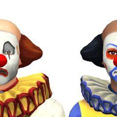 Męska i żeńska wersja ubioru klauna w The Sims 4.