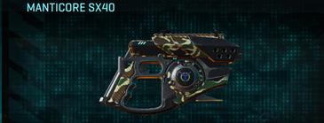 Scrub forest pistol manticore sx40