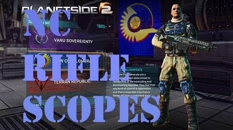 Planetside 2 NC Rifle Sights & Scopes