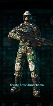 Scrub forest combat medic