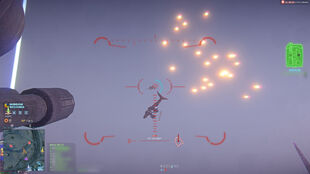 Decoy Flares in use