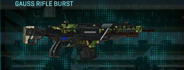 Jungle forest assault rifle gauss rifle burst
