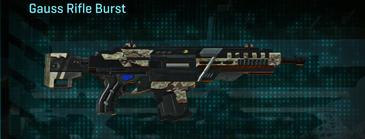 Arid forest assault rifle gauss rifle burst