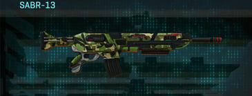 Jungle forest assault rifle sabr-13