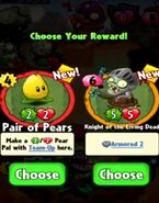 Choice between Pair of Pears and Knight of the Living Dead