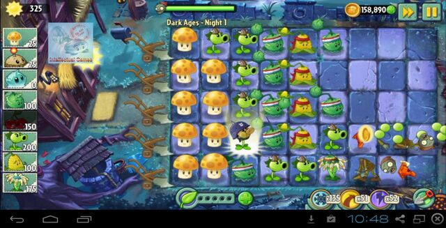 File:Dark Ages Night 1 Sun Shroom - Plants vs Zombies 2 update Map 5-17-11-19-.JPG