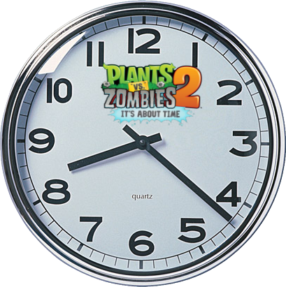 PvZ2 wall clock - simple