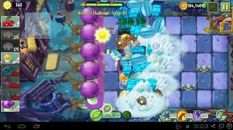 Arthur's Challenge Level 111 to 115 Plants vs Zombies 2 Dark Ages