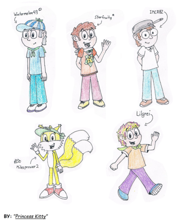 All PvZ Friends drawing(By Princess Kitty)