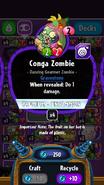 Conga zombie stats