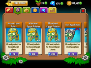 Seed Packets Level Upgrade
