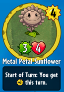 Receiving Metal Petal Sunflower