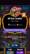 All-Star Zombie statistics