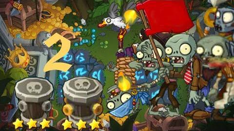 PvZ Online - Adventure Mode - Treasure Island 2