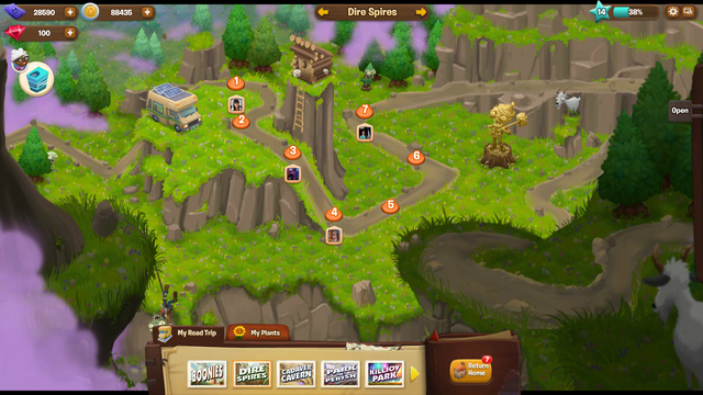 File:Plants Vs. Zombies Aventure Map 2 Dire Spires.png
