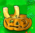 Gold magnet pumpkin