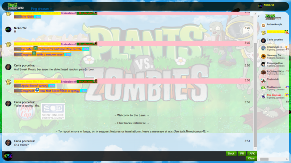 Plants vs. Zombies Chat Skin White
