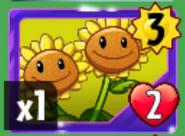 Twin Sunflower card