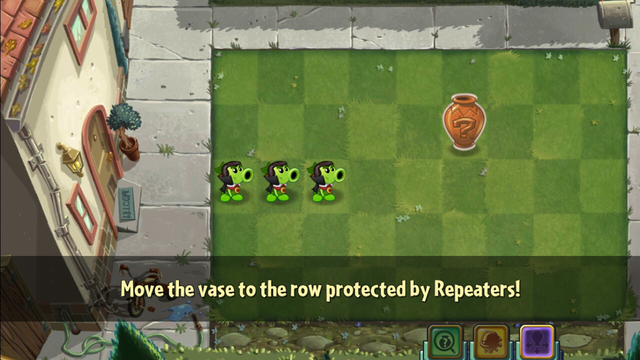 File:Tutorial for Move Vase. Previously Repeaters in the picture were called Peashooters