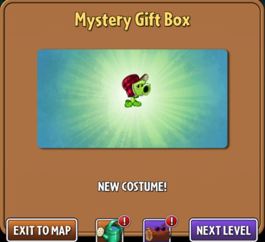 File:Getting Primal Peashooter costume from a Mystery Gift Box.jpg