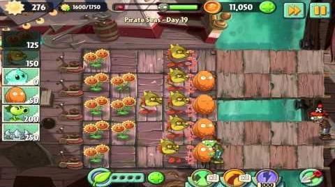 Plants vs Zombies 2 Pirate Seas Day 19 Walkthrough