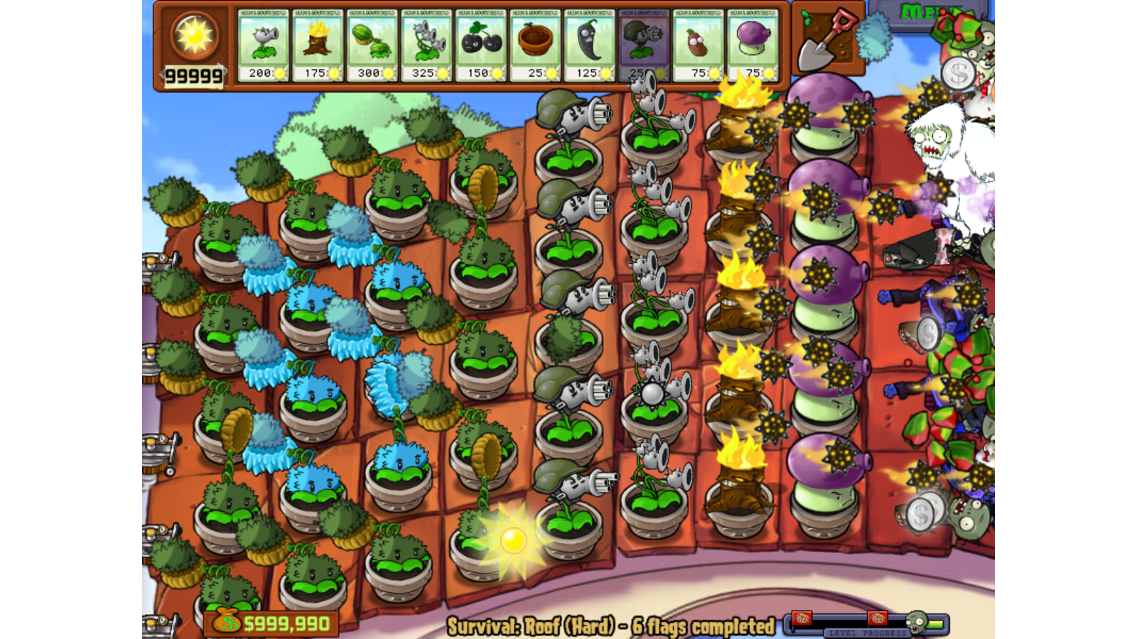 Image Survival Roof Hard Yeti Png Plants Vs Zombies