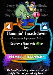Slammin' Smackdown statistics