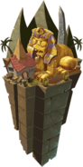 Ancient Egypt World Map Icon