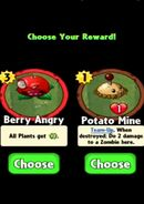 Choice between Berry Angry and Potato Mine