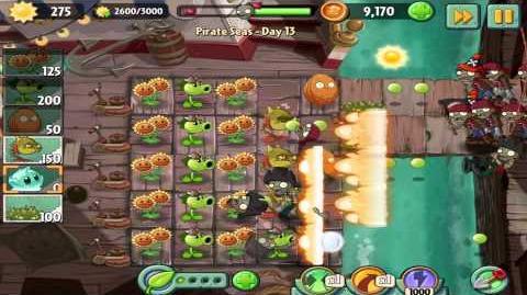 Plants vs Zombies 2 Pirate Seas Day 13 Walkthrough