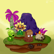 Jurrasic march plants fan art