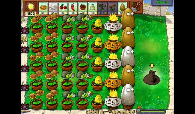 File:Survival Day level where plants are planted on flower pots.png