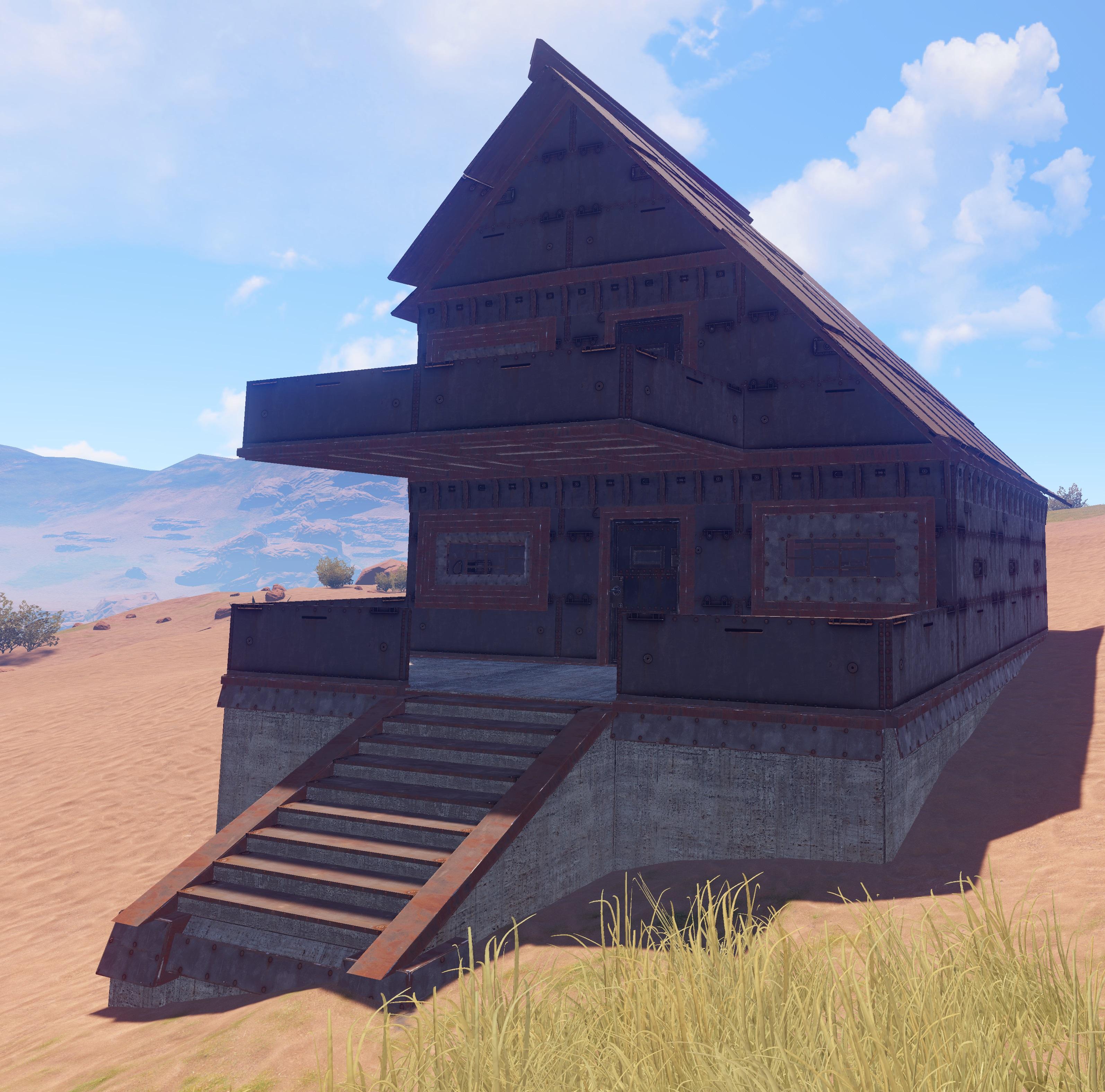 Rust Building High External Walls And Door Guide