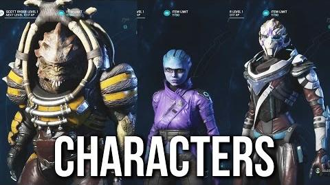 MASS EFFECT ANDROMEDA Characters Gameplay