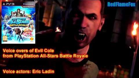 PlayStation All Stars Battle Royale Evil Cole McGrath Voice Over