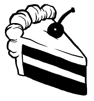 Black And White Birthday Cake Clipart | Free download on ...  |Cake Slice Clipart Black And White