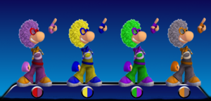 Disco Rayman Color Palletes