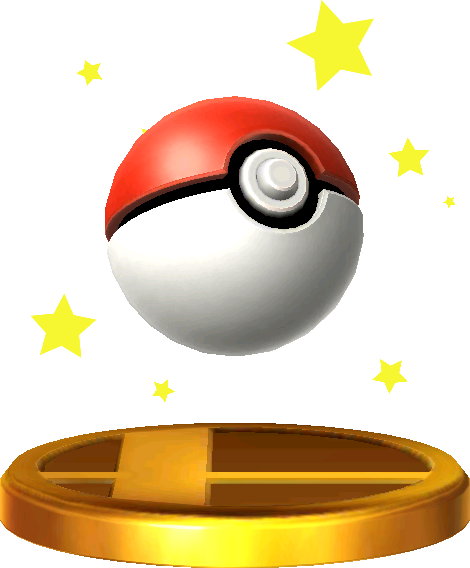 Poké Ball trophy SSB3DS