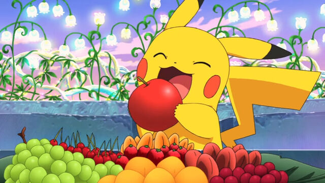 File:Pikachu about to eat an apple.jpg