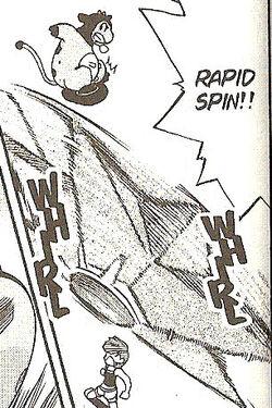 Misty's Starmie Adventures Rapid Spin